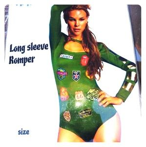 Long sleeve army paratrooper costume